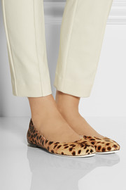 Chloé Lauren animal-print calf hair ballet flats
