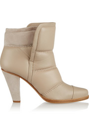 Chloé Padded leather and suede ankle boots