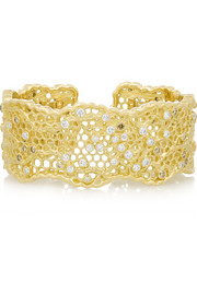 Aurélie Bidermann Fine Jewelry Lace 18-karat gold diamond cuff
