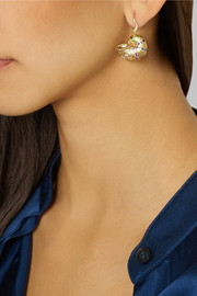 Aurélie Bidermann Fine Jewelry 18-karat gold multi-stone shell earring
