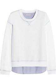 Richard Nicoll Paneled cotton-jersey sweatshirt