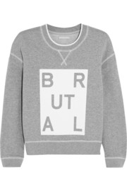 Richard Nicoll Brutal printed cotton-jersey sweatshirt