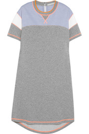 Richard Nicoll Paneled cotton-jersey sweatshirt dress