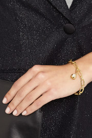 Aurélie Bidermann Fine Jewelry 18-karat gold diamond bell charm