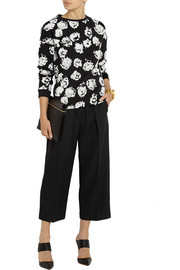 Emanuel Ungaro Flocked cotton-jersey sweatshirt
