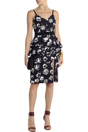 Emanuel Ungaro Ruffled floral-print crepe dress