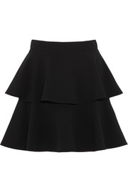Emanuel Ungaro Tiered crepe mini skirt