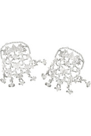 Alexander McQueen Set of two silver-plated ivy leaves finger bracelets