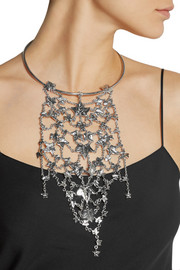 Alexander McQueen Silver-plated ivy leaves necklace