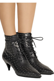Saint Laurent Studded leather ankle boots