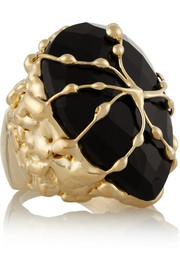 Rosantica Baronessa gold-dipped onyx ring