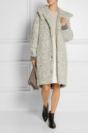 Stella McCartney Hooded mohair and wool-blend bouclé coat