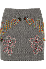 Stella McCartney Embroidered tweed mini skirt