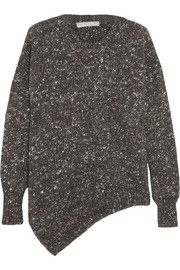 Stella McCartney Asymmetric chunky-knit wool-blend sweater