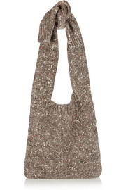 Stella McCartney Chunky-knit wool-blend shoulder bag