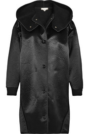 Stella McCartney Oversized faux shearling-lined satin-twill coat