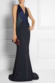Stella McCartney Fringed stretch-cady gown