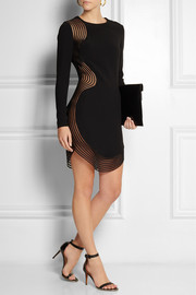 Stella McCartney Mesh-paneled stretch-cady mini dress