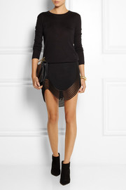 Stella McCartney Embroidered stretch-cady mini skirt