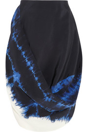Stella McCartney Draped tie-dyed silk skirt