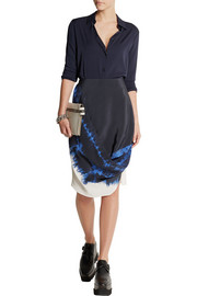 Stella McCartney Draped tie-dye silk skirt