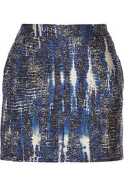 Stella McCartney Tie dye-effect jacquard mini skirt