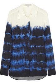 Stella McCartney Arlo tie-dyed silk-crepe shirt