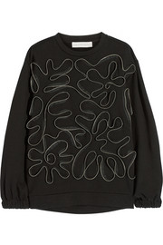 Stella McCartney Squiggle Zips cotton-blend fleece sweatshirt