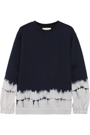 Stella McCartney Tie-dyed cotton and wool-blend fleece sweatshirt