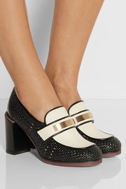See by Chloé Two-tone leather pumps