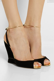 Paul Andrew Delphi suede wedge sandals
