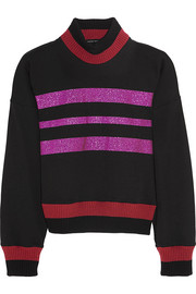Jonathan Saunders Renee glitter-finished cotton-blend jersey sweatshirt