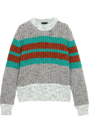 Jonathan Saunders Striped ribbed wool-blend sweater