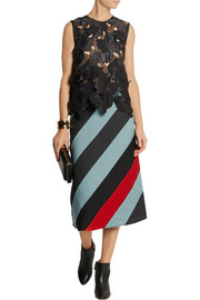 Jonathan Saunders Clement patchwork appliquéd satin top