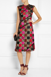 Jonathan Saunders Nina patchwork embroidered lace dress
