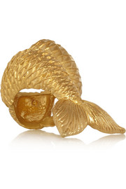 Virzi+De Luca Mermaid gold-plated ring