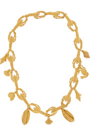 Virzi+De Luca Lobster Ocean gold-plated charm necklace