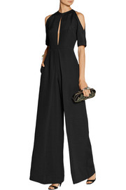 Vika Gazinskaya Wool and silk-blend jumpsuit