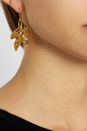 Virzi+De Luca Tropical Flower gold-plated earrings
