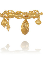 Lobster Ocean gold-plated charm bracelet