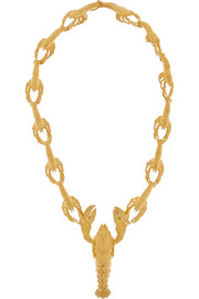 Virzi+De Luca Lobster gold-plated necklace