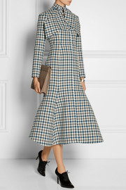 Vika Gazinskaya Checked wool coat