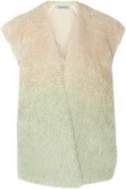 Vika Gazinskaya Dégradé oversized alpaca and mohair-blend vest