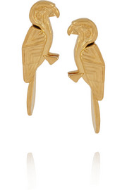Virzi+De Luca Blue gold-plated earrings