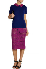 Sibling Crocheted pencil skirt