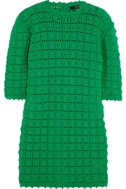 Crocheted merino wool mini dress