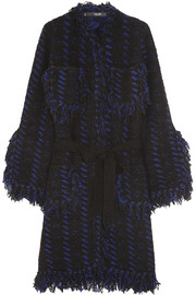 Sibling Fringed wool-blend coat
