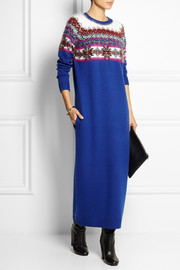 SIBLING  Embellished merino wool and angora-blend maxi dress