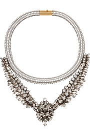 Shourouk Tabatha Meche Swarovski crystal necklace