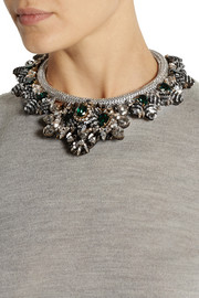 Shourouk Avalon Swarovski crystal and sequin necklace